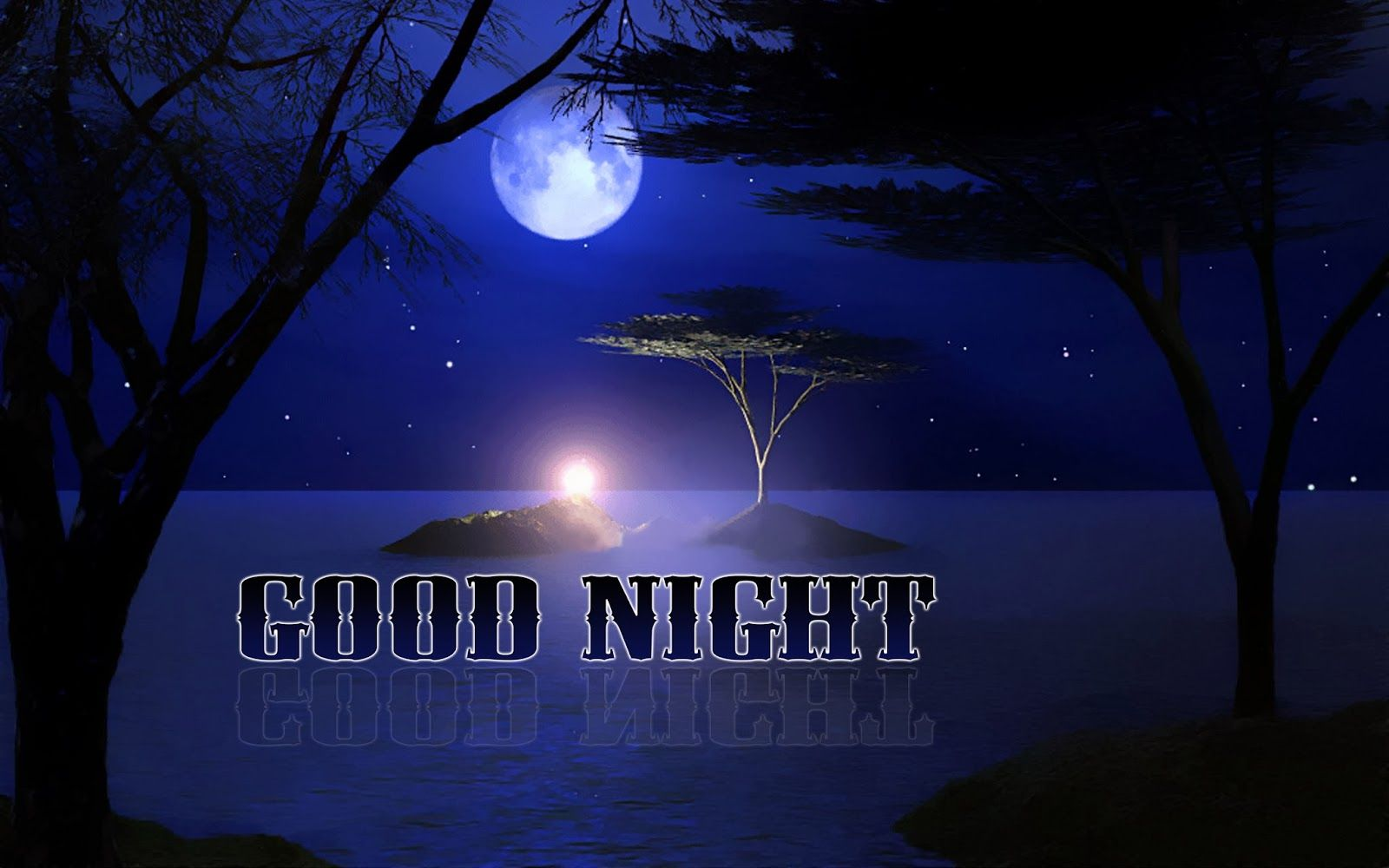 Good Night Text Swiming On River S Water Image Hd Wide Water Images Night Image