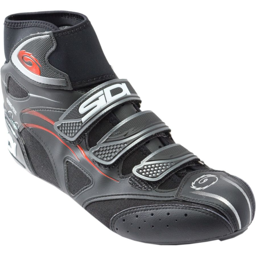 Leave it to Sidi to come up with this ingenius idea...bye bye booties. (Sidi Hydro GTX Cold-Weather Road Shoe )