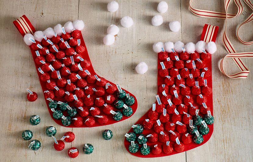 HERSHEY\u0027S KISSES Chocolates Stocking holiday projects Pinterest