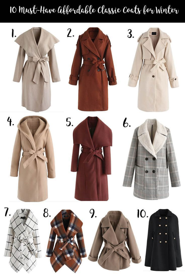 10 Must Have Classic Affordable Coats for Winter |