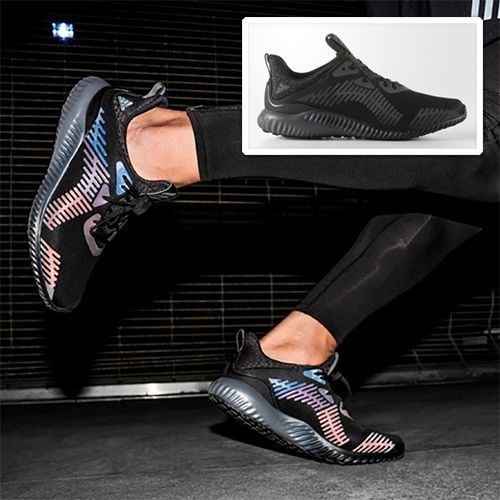online retailer 38c4e 4165a Adidas AlphaBOUNCE Xeno - in core black with reflective patterns that light  up with vibrant colors when youre hit with light.