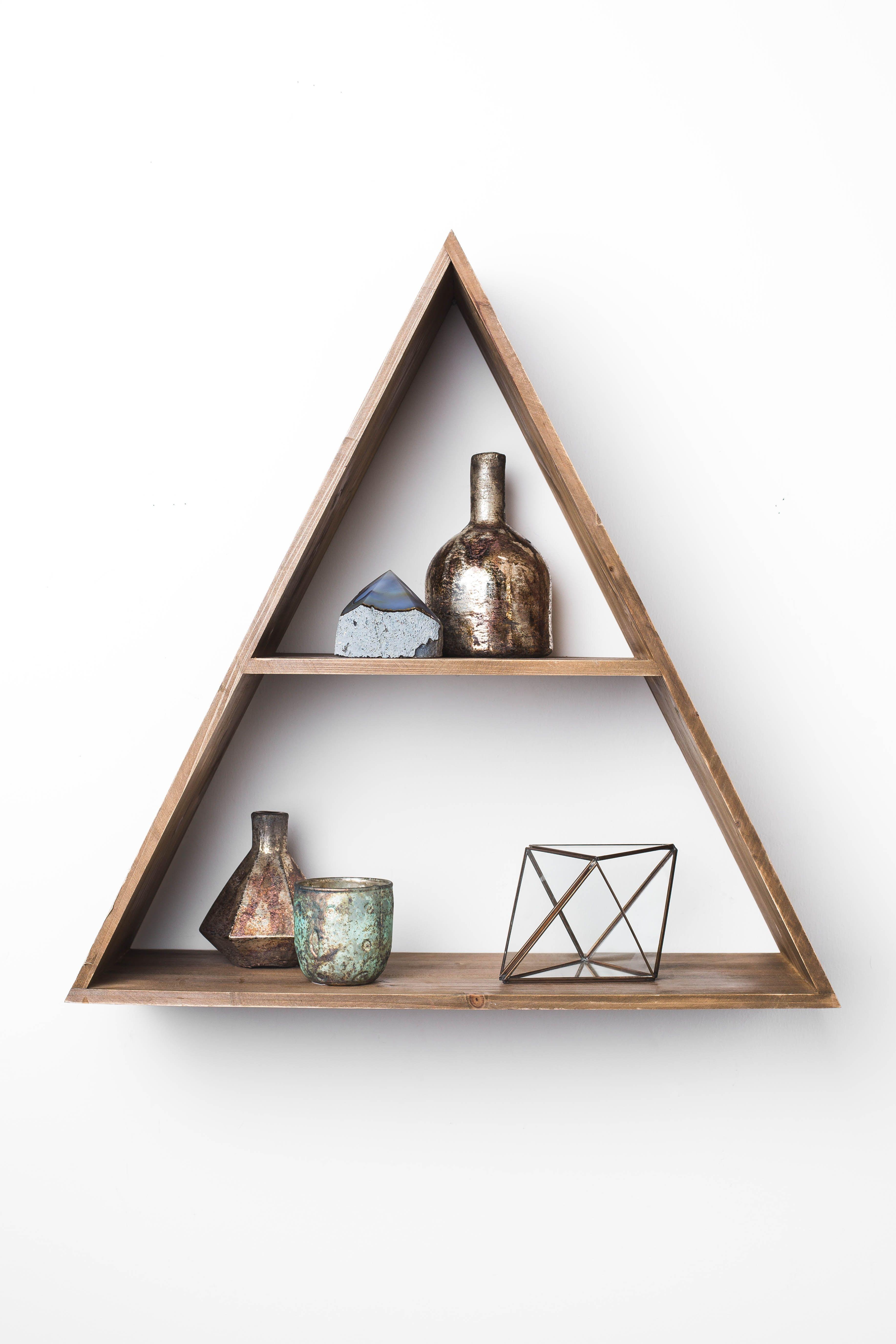 Triangle Wood Shelf 49 95 Triangle Wood Shelf Wood Shelves Decor