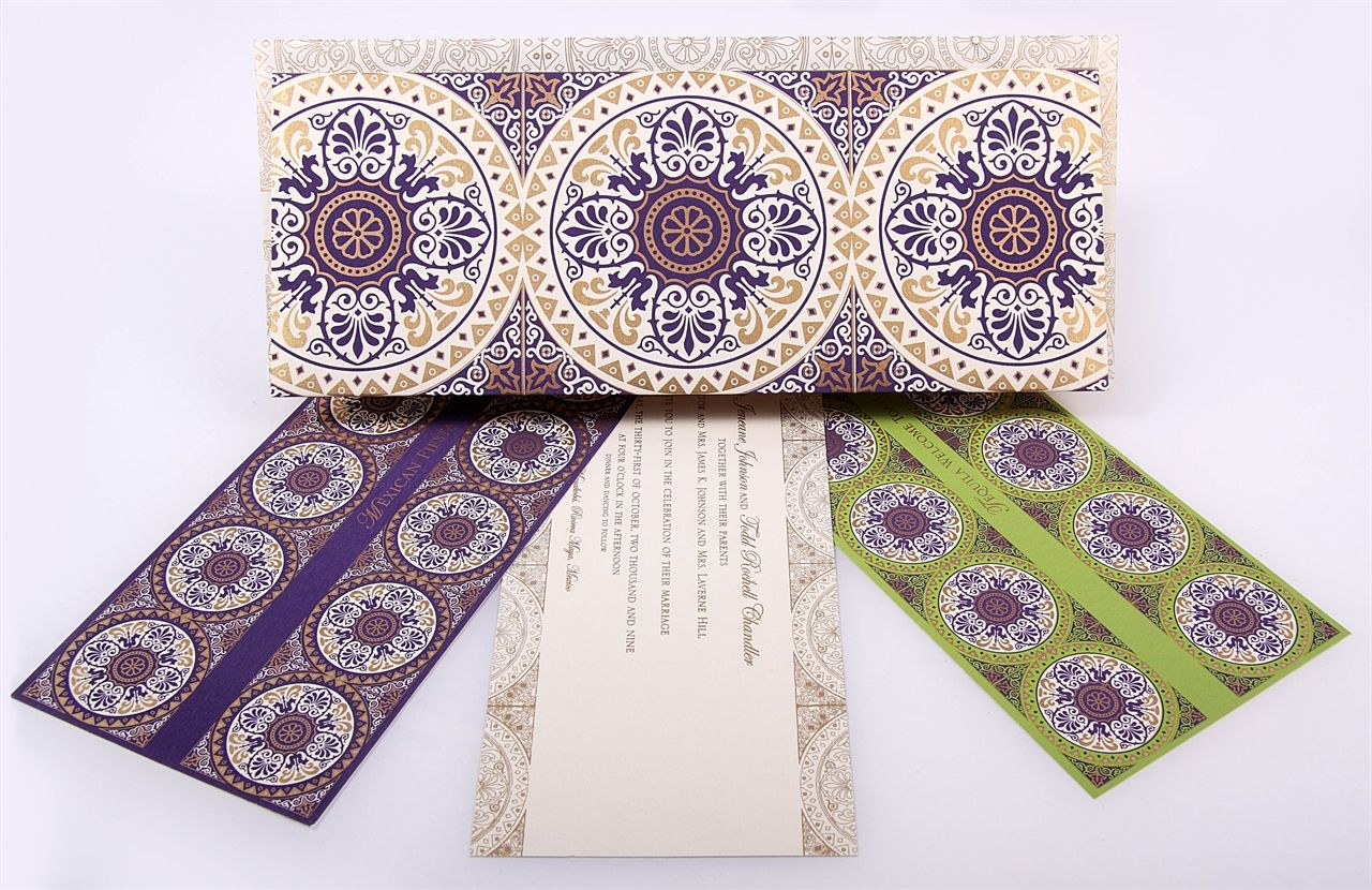 Moroccan inspired wedding invites we designed for