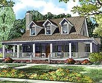 House Plans With Porches single floor house plans with porches Country House With Wrap Around Porchsigh