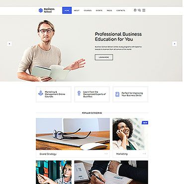 Business School E Learning Multipage Html Website Template