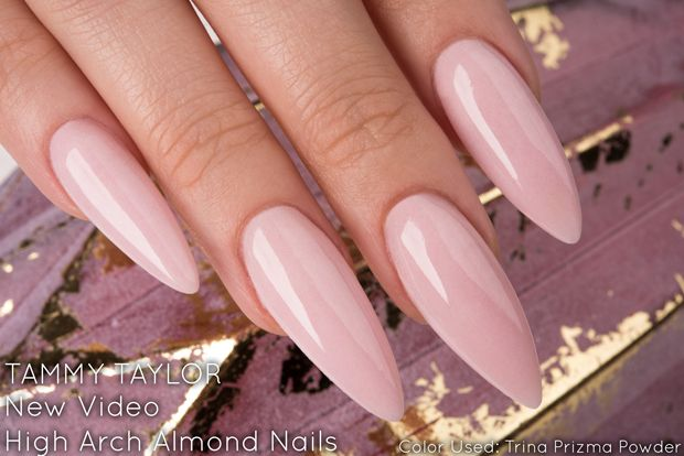 Tammy Taylor Long High Arch Almond Nail Tutorial Chit Chat Tammytaylornails