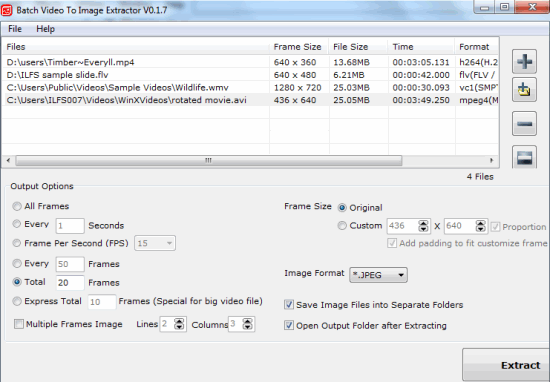 Free Software to Batch Extract Images from Videos | Software ...