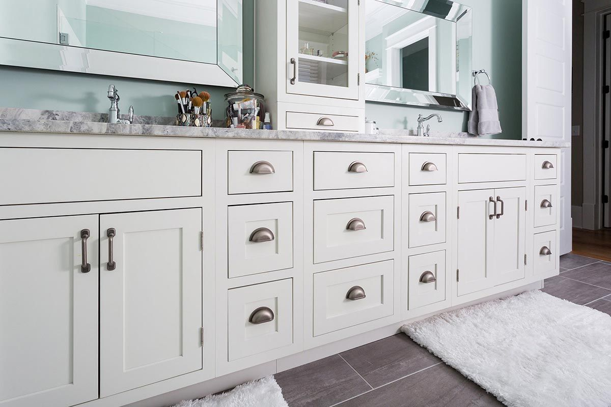 Beautifully designed new construction home features master - Bathroom vanities nebraska furniture mart ...