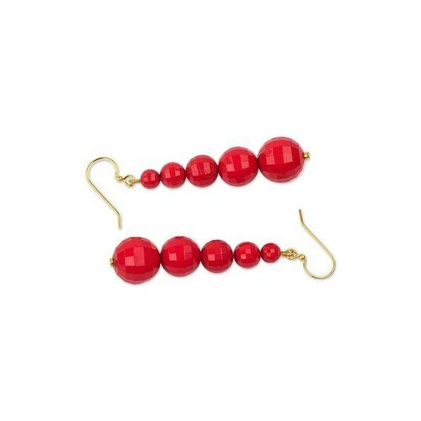 NOVICA Eco Friendly Handcrafted West African Dangle Earrings ($20) ❤ liked on Polyvore featuring jewelry, earrings, dangle, red, african jewelry, long dangle earrings, red dangle earrings, hand crafted earrings and novica earrings