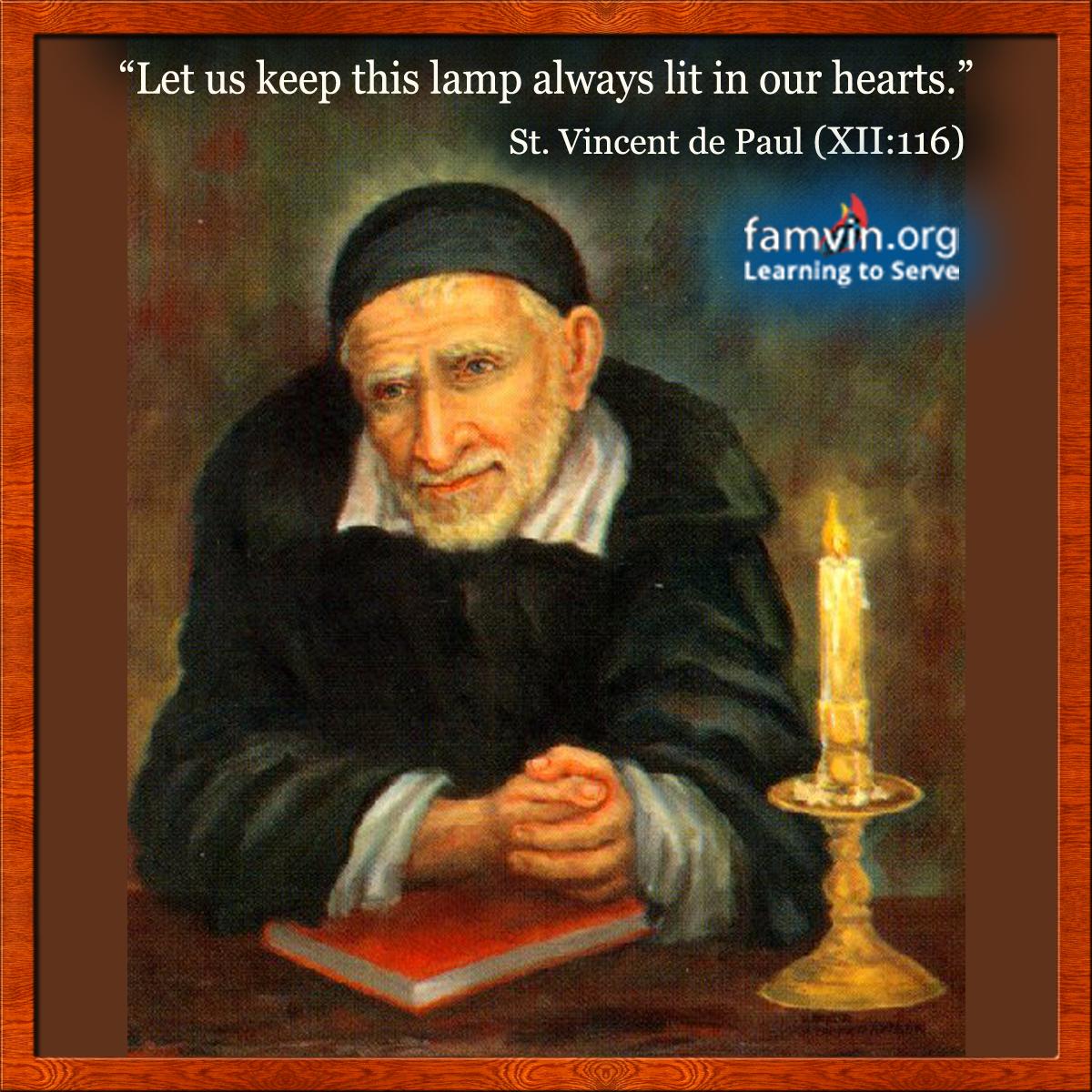 St Vincent De Paul Quote Of The Day Vincent De Paul