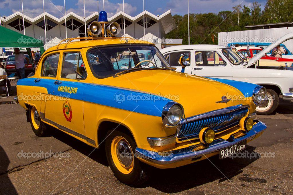Old car show on Retrofest. Soviet police car \