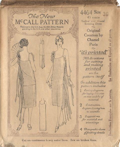 Vintage Chanel Dress Pattern; McCall 4464