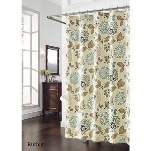 Ruthie Shower Curtain Blue And Brown Blue Shower Curtains