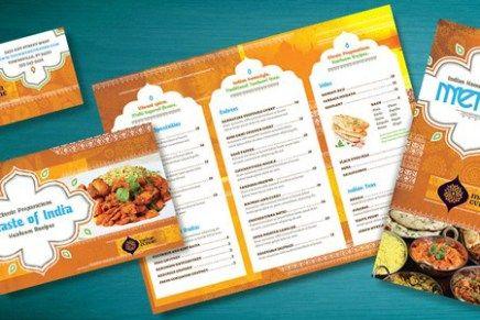 indian restaurant menu flyer ads and postcard ideas menu