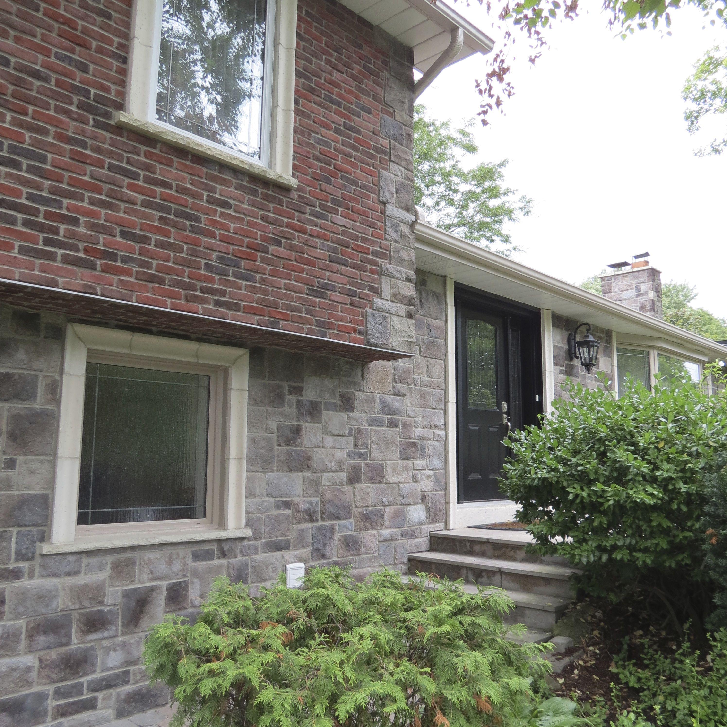 Stone Brick Veneer: Manufactured Stone Veneer + Thin Brick
