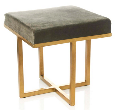 nate berkus upholstered stool for hsn. great combination of grey