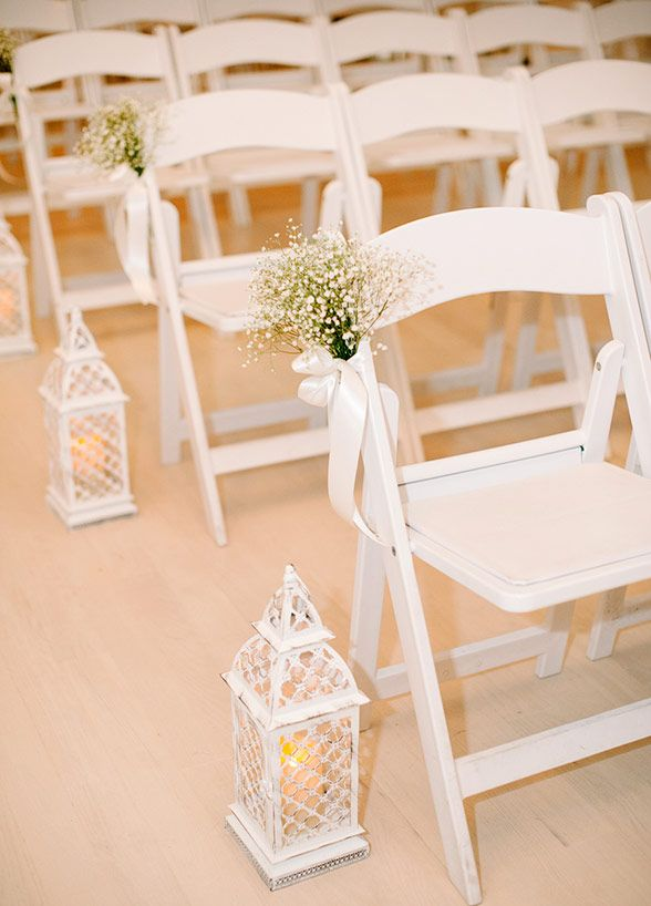 Simply beautiful wedding aisle decoration. Brklyn View Photography