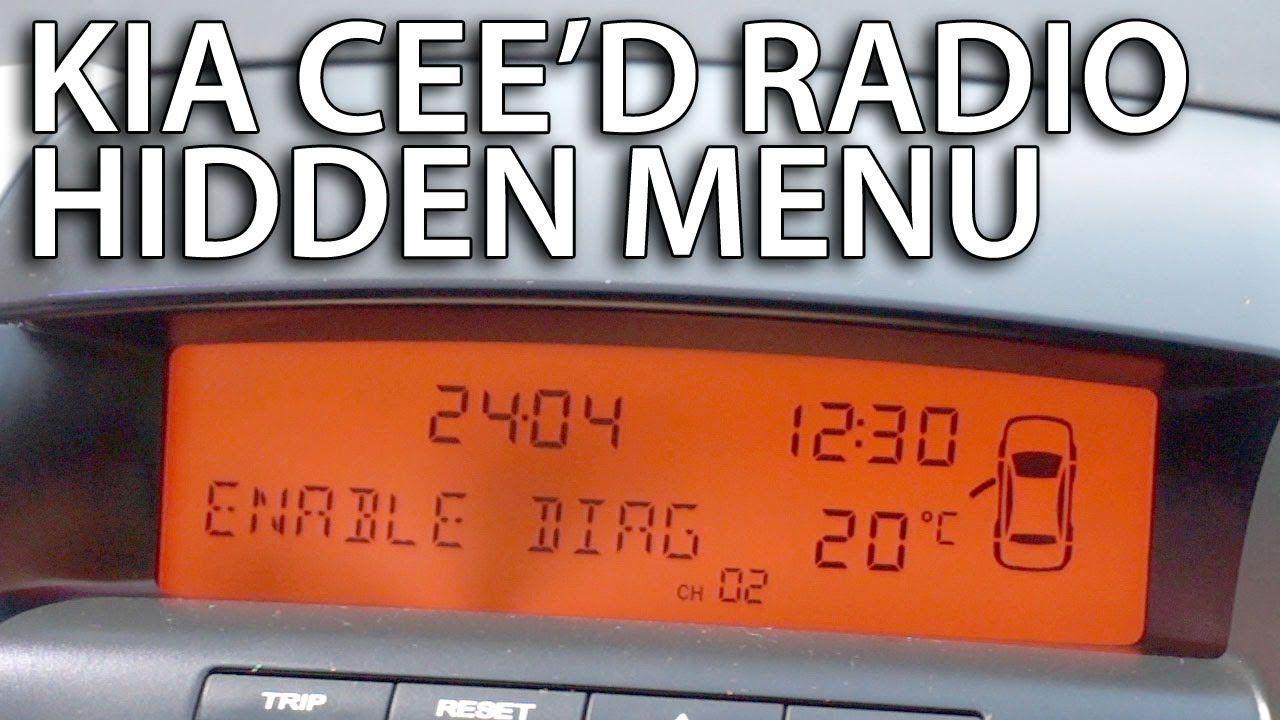 How to enter radio hidden menu in #Kia #Ceed (service mode
