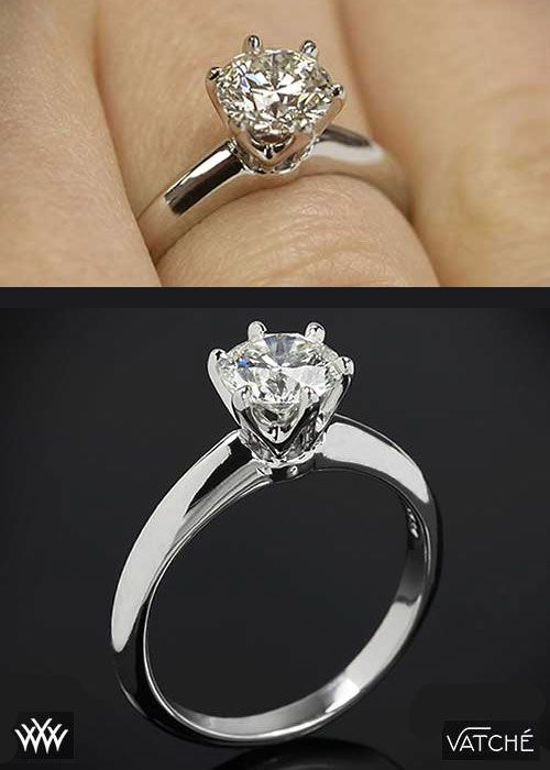 Two Views Of The Classic Tiffany Style Diamond Solitaire