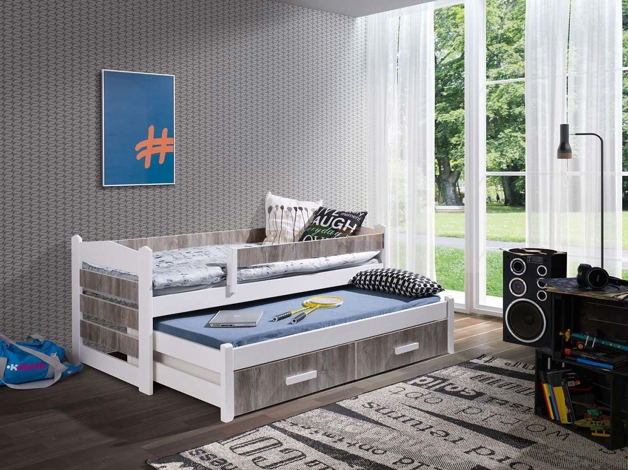 łóżko Piętrowe Niskie 2 Osobowe Z Barierką Do Pokoju