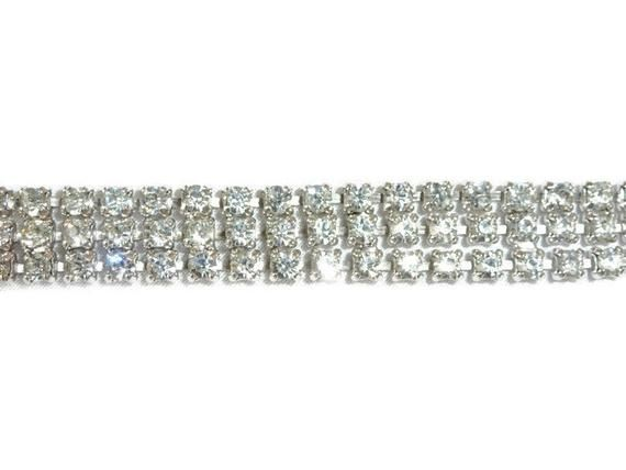 ae4a8f6819 Vintage Weiss Spectacular Art Deco Weiss 3-ROW Dazzling ICE ...
