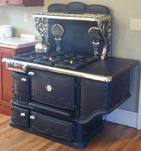 Antique Wood Stove Converted To Gas