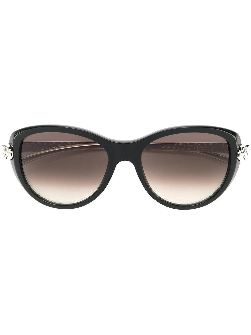 605f14dad Cartier 'Panthère Wild Cat' | glasses | Cat eye sunglasses, Cartier ...