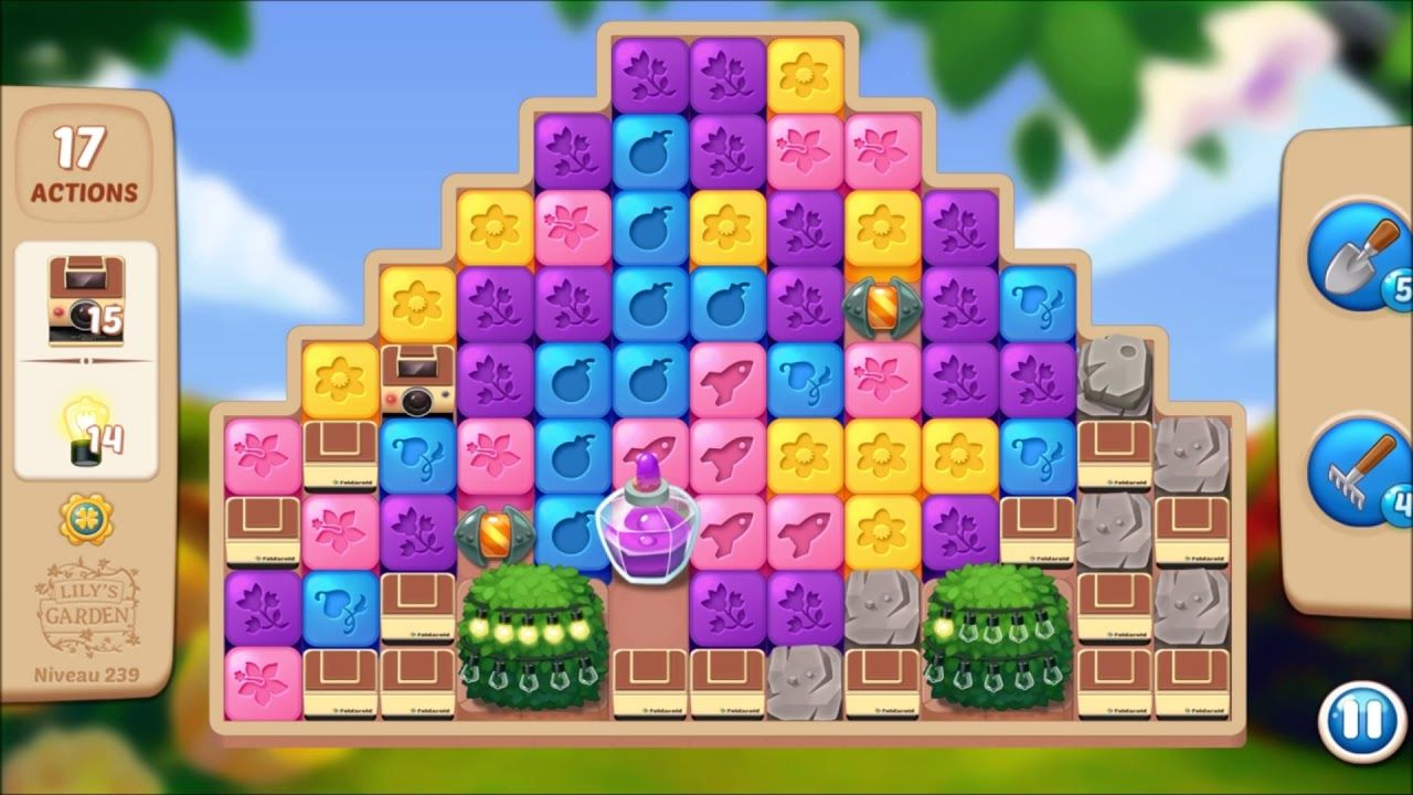 Lily S Garden Level 239 No Boosters Lily Garden Garden Levels Lily