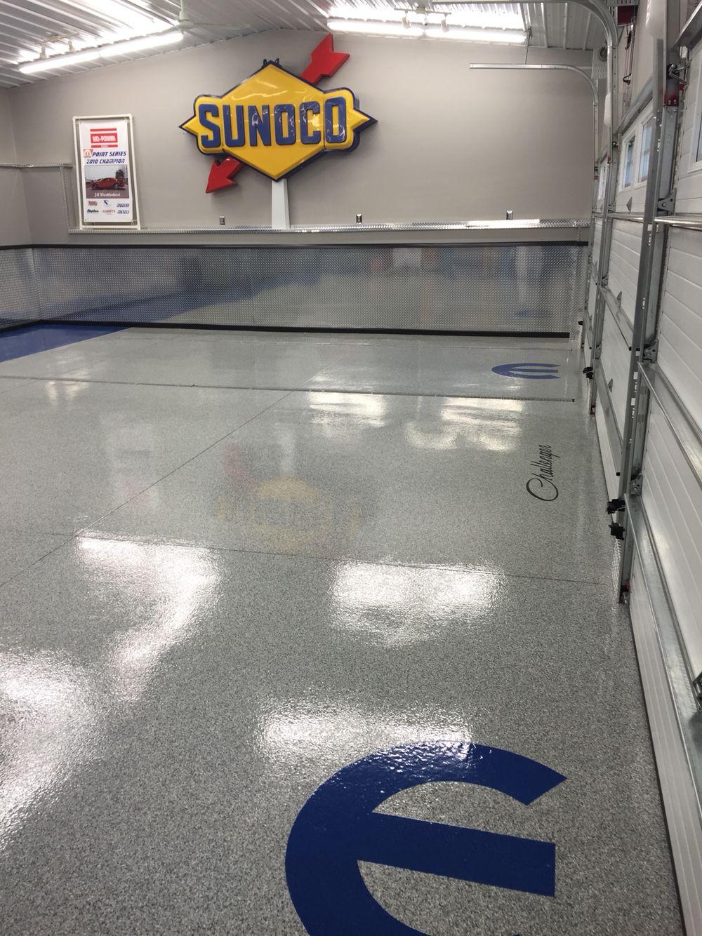 Fertiggarage beton  Mopar Epoxy chip garage floor Re-Deck of northwest Ohio installed ...