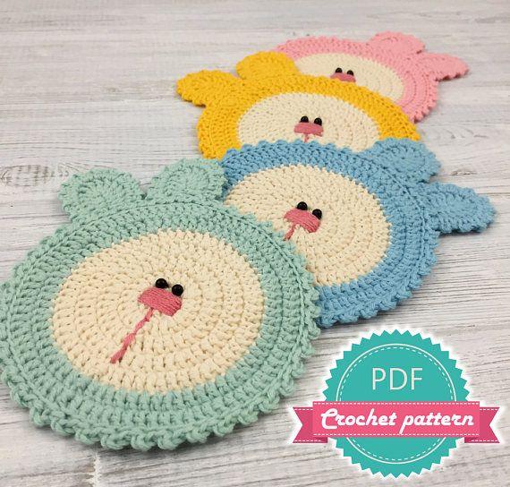 Coaster Pattern, Crochet Pattern, Crochet Doily, Easy Crochet ...