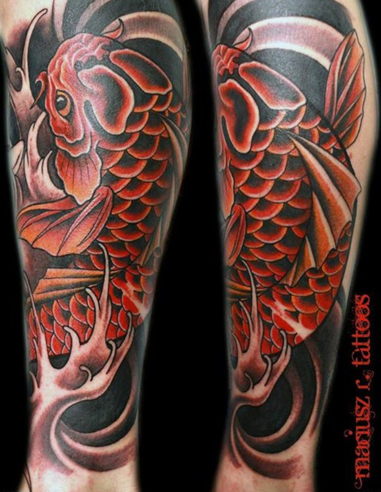 Coy fish codys cover up tattoos pinterest coy fish for Koi fish cover up
