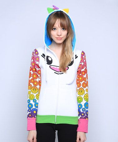 Love this Daisy Lucky Zip-Up Hoodie - Women by SO SO Happy on #zulily! #zulilyfinds