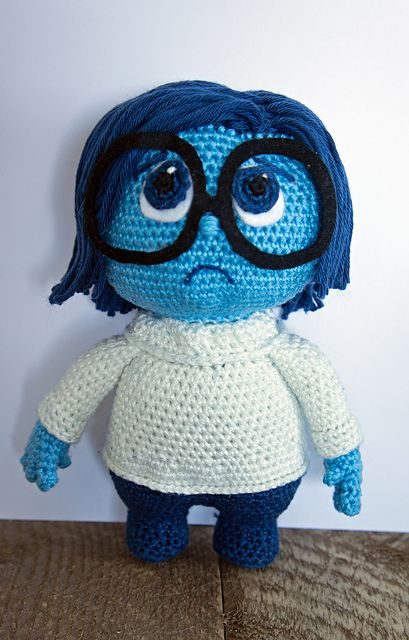 Inside Out Sadness Pattern By Caits Crocheteddolls Happy
