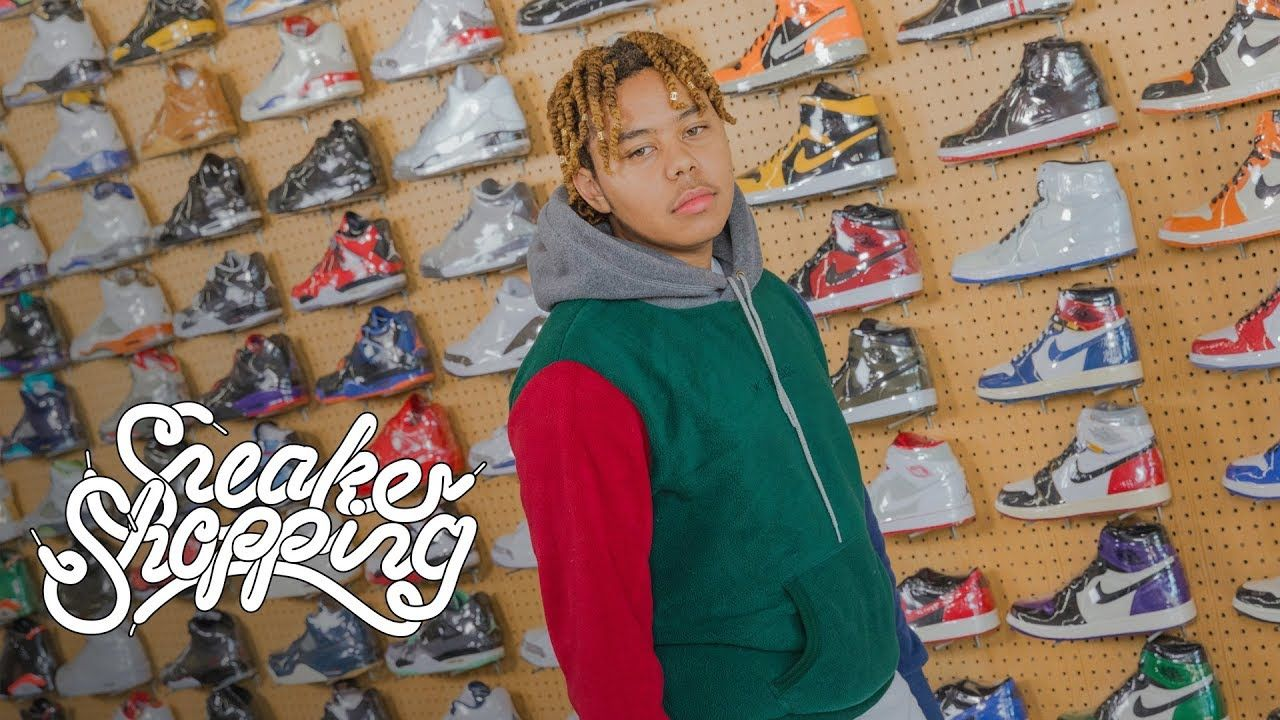 YBN Cordae Goes Sneaker Shopping With