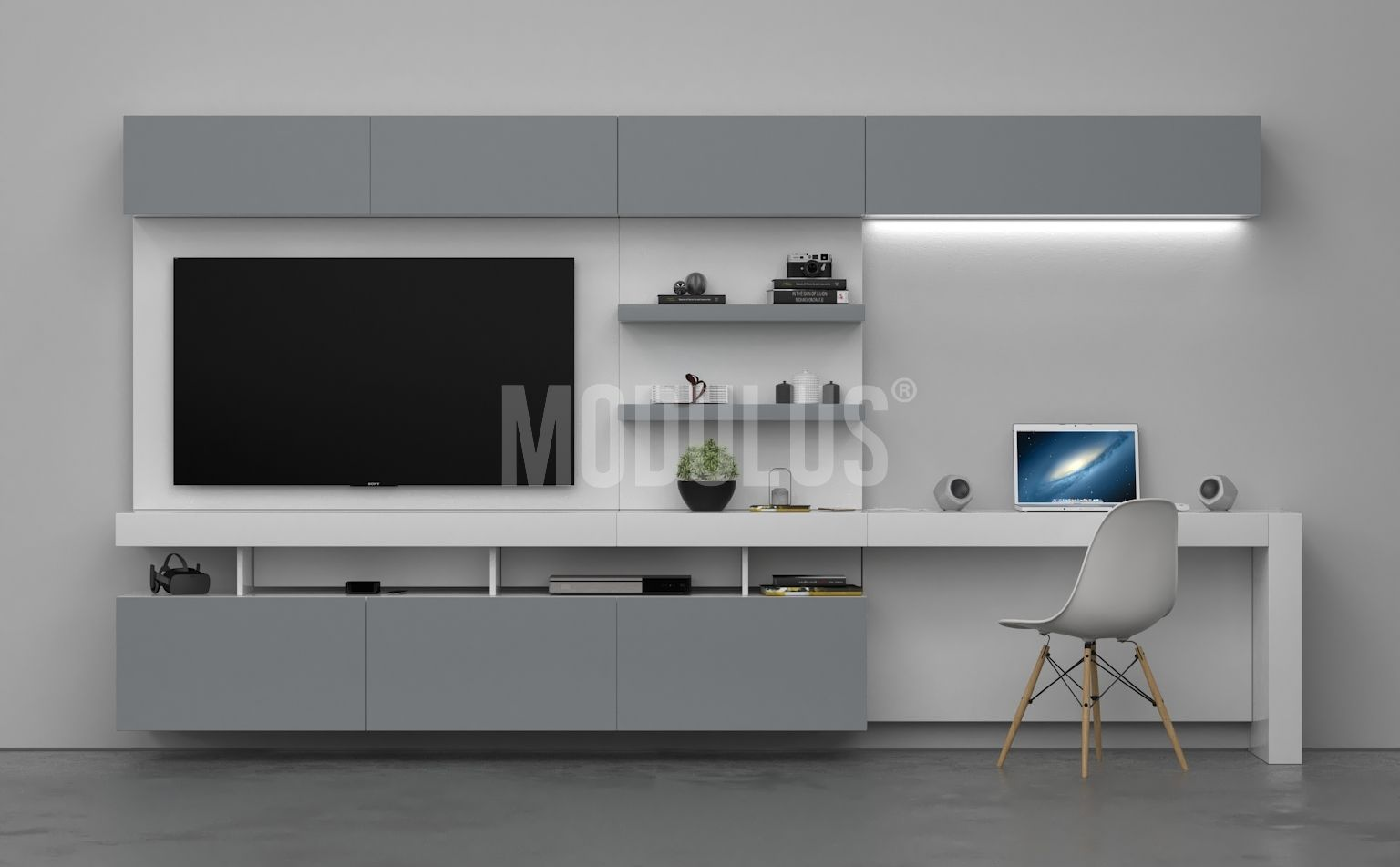 Modulus sistema mural 25 livingroom escritorio for Muebles de living modernos en cordoba