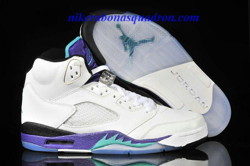 6c0cc7263171f9 Nike Air Jordan 5 V Retro LS-Grapes Grape Gridiron White Pure Purple  Current Blue Emerald Green 440886 108