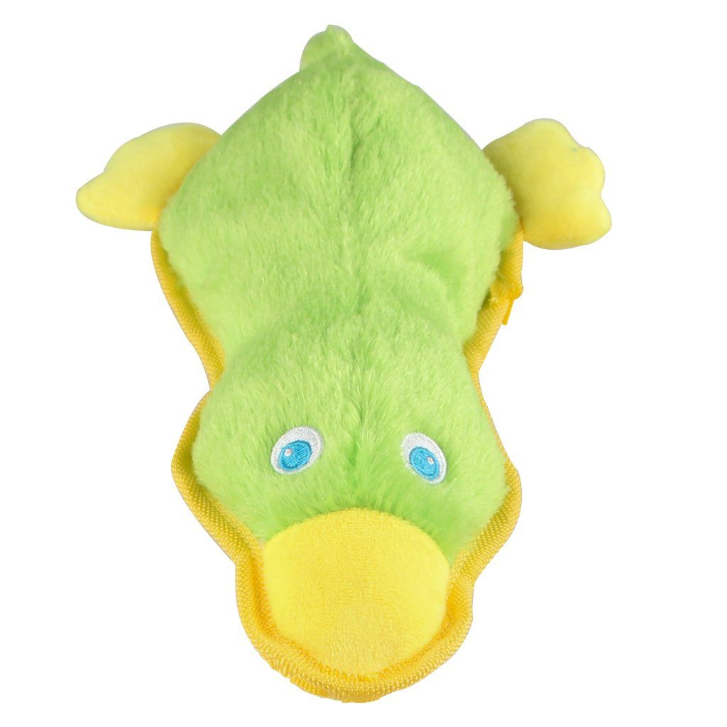 Ifoyo Durable Plush Squeaky Duck Dog Toy Green Duck To View