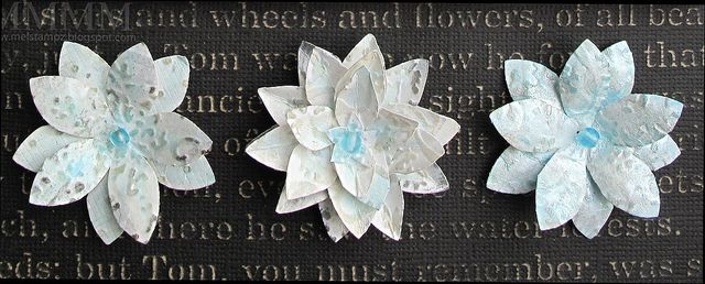 fresco flowers cuttlbug paint copic sand mel stampz by melstampz, via Flickr