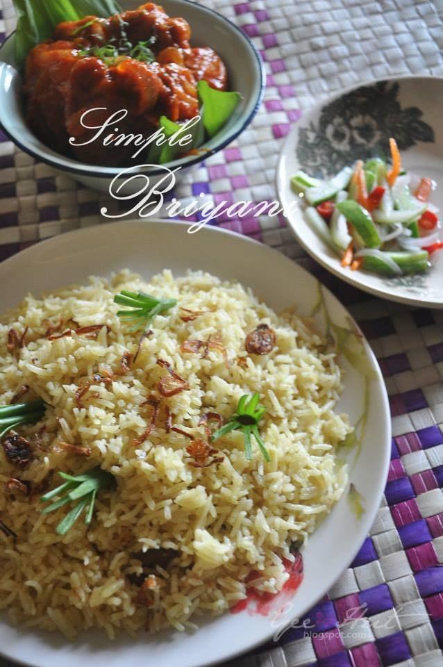 Nasi Briyani Acar Timun Ayam Masak Merah Resep Masakan Malaysia Resep Makanan Makanan