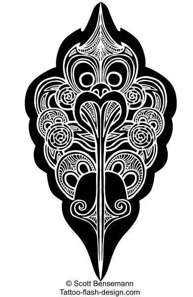 Polynesian Sharks Mouth By Cameron Rutten: Maori Tattoo Design Inspired