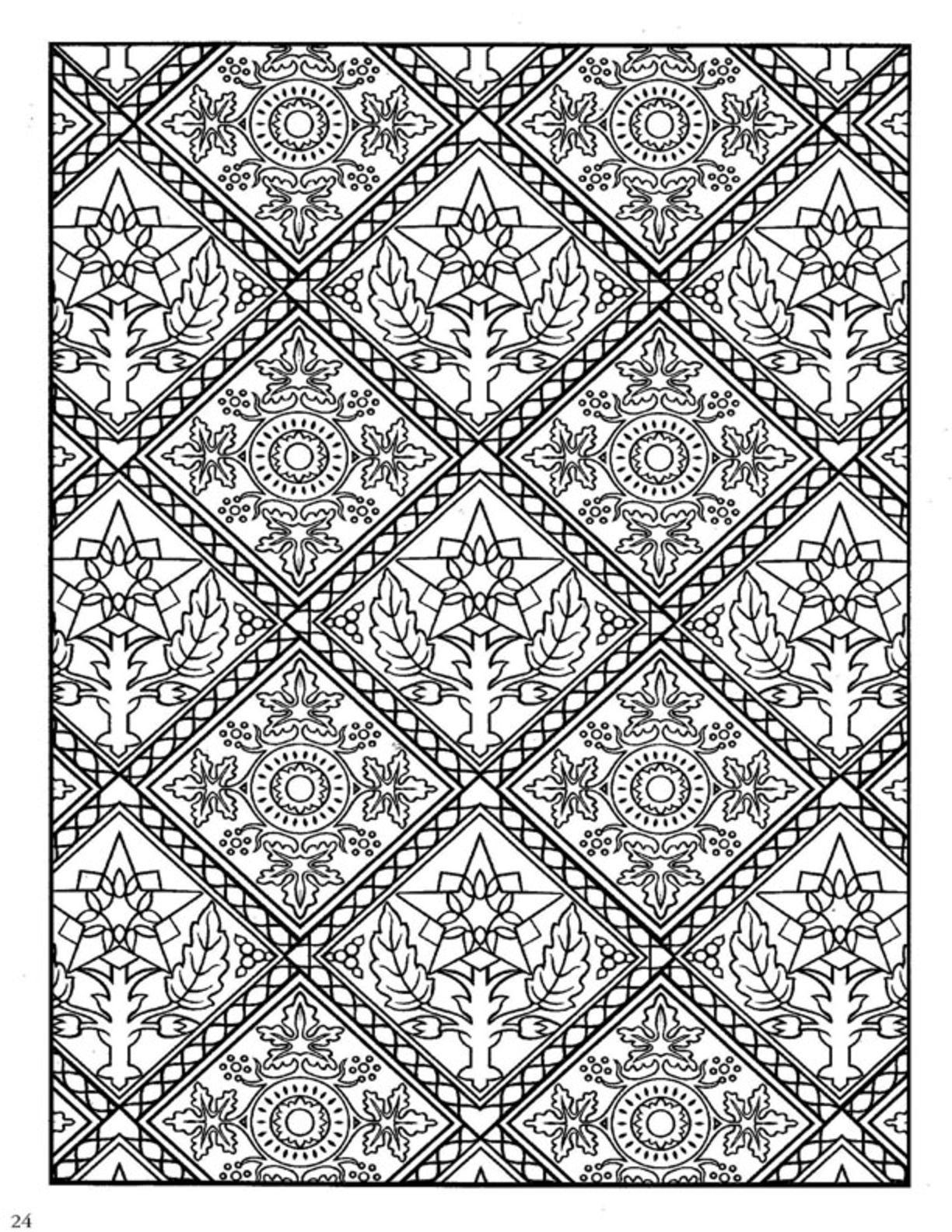 Decorative Tile Designs Dover Decorative Tile Coloring Book  Dover Coloring  Pinterest