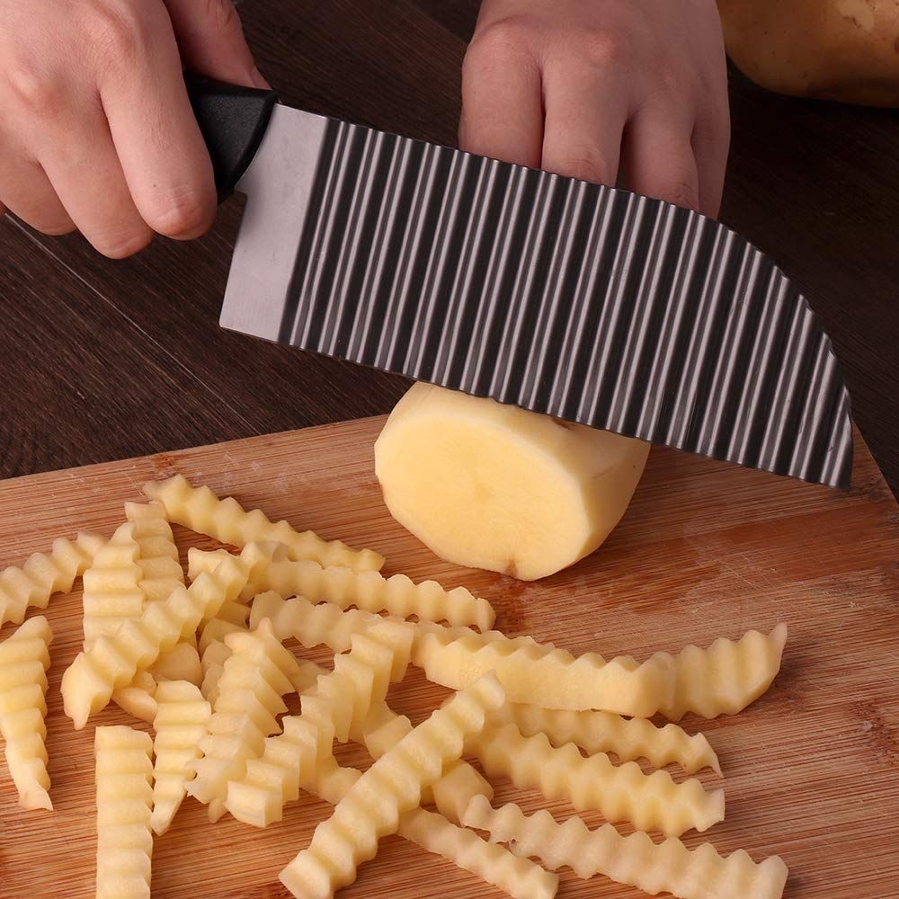 Lali garnishing knife waves french fry cutter crinkle