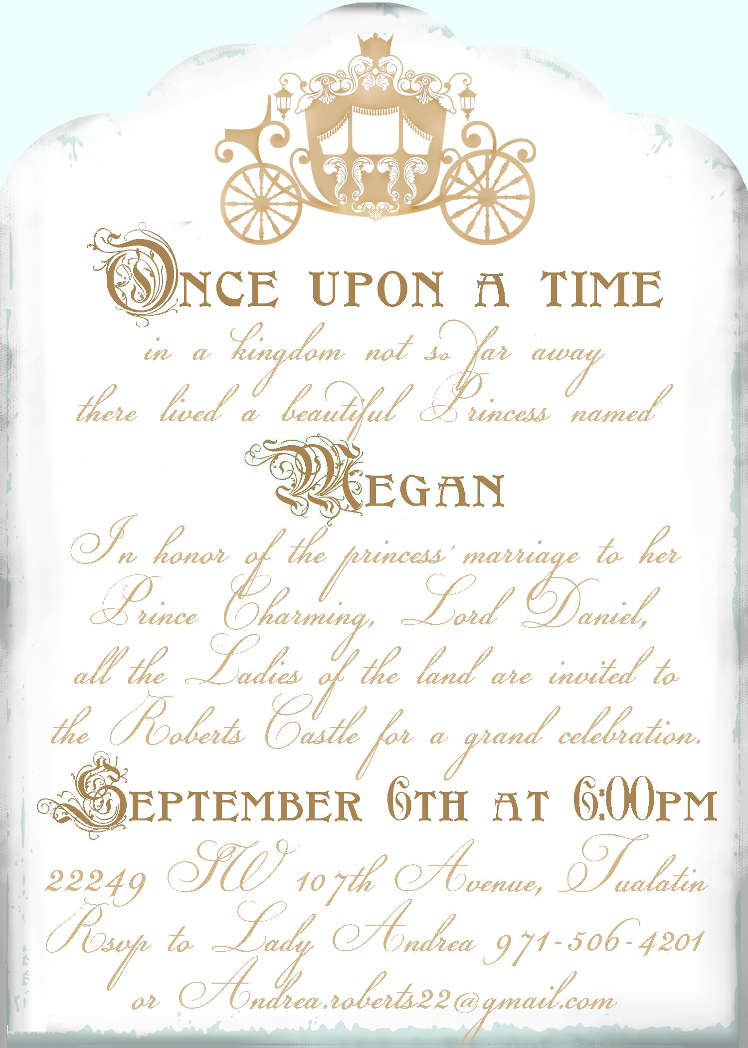 Cinderella shower invitation Cinderella bridal shower Pinterest