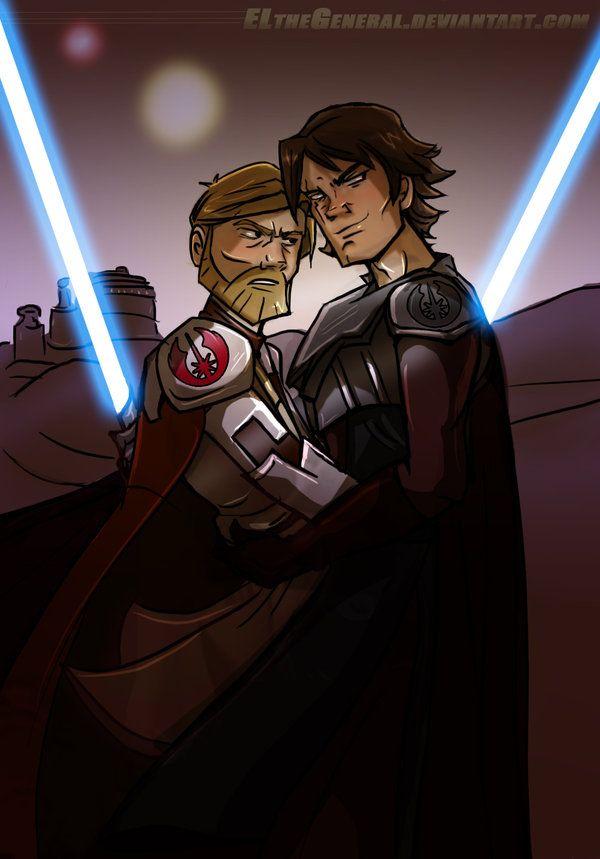 Obi Wan Kissing Szukaj W Google Anakin Obi Wan Obi Wan Star