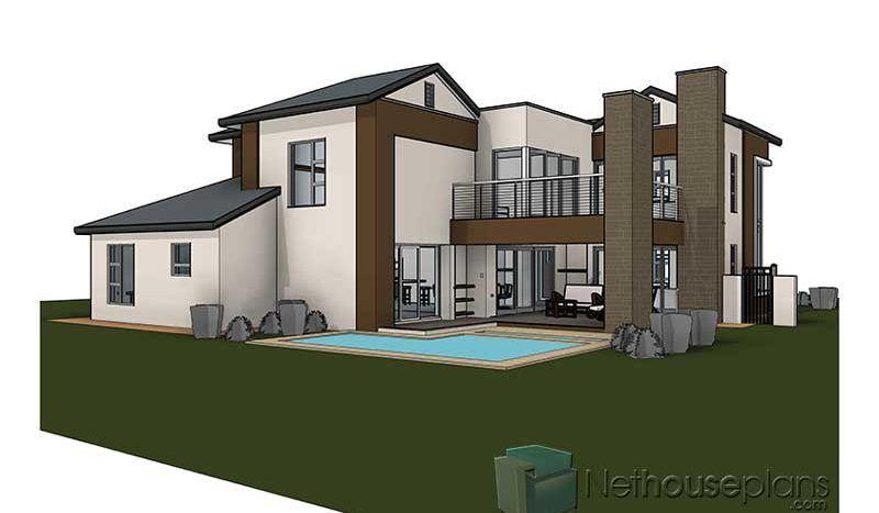 Modern 4 Bedroom House Designs Plans Home Designs Nethouseplans Tuscan House Plans Single Storey House Plans 4 Bedroom House Designs