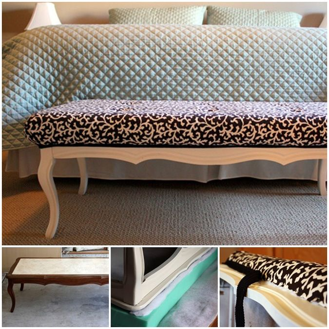 Would Love To Repurpose A Coffee Table Into Bench For The
