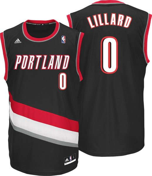 0bb773ab8 Damian Lillard  Adidas Revolution 30 NBA Replica  0 Portland Trail Blazers  Jersey