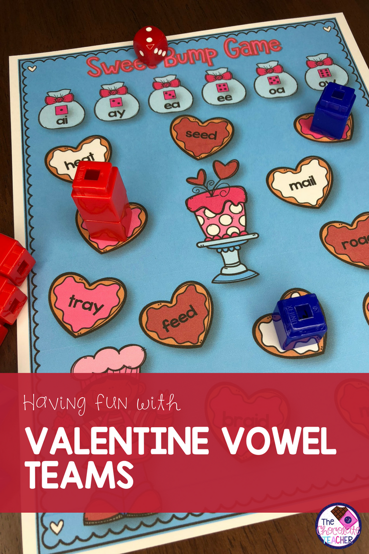 Valentine\'s Day Activities With Vowel Teams AI, AY, EA, EE, OA, OW ...