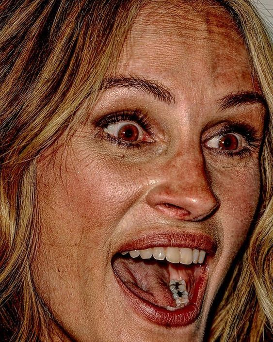 Photo of Celebrity face close-up – LOL WHY