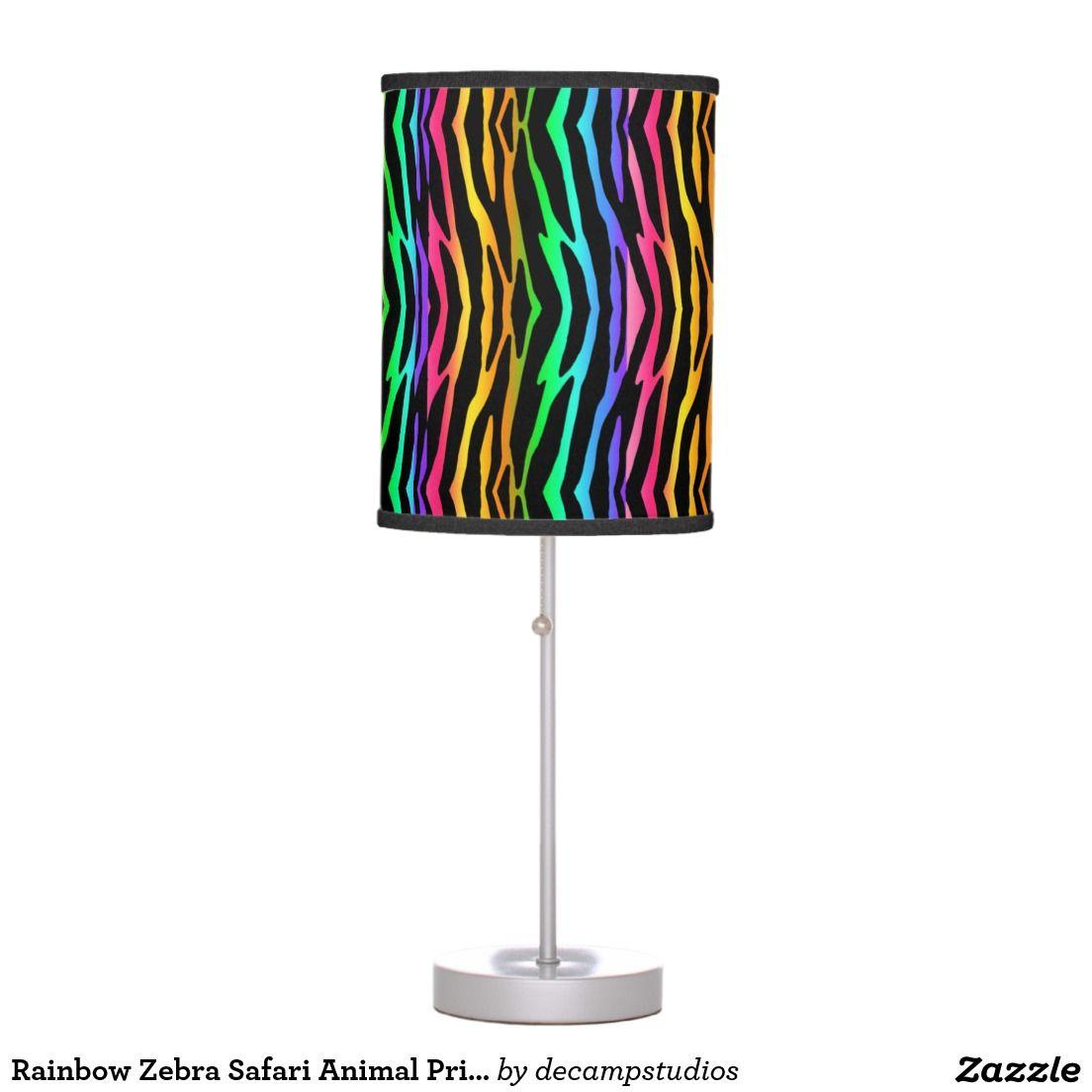 rainbow zebra safari animal print desk lamp rainbow zebra rainbow zebra safari animal print desk lamp